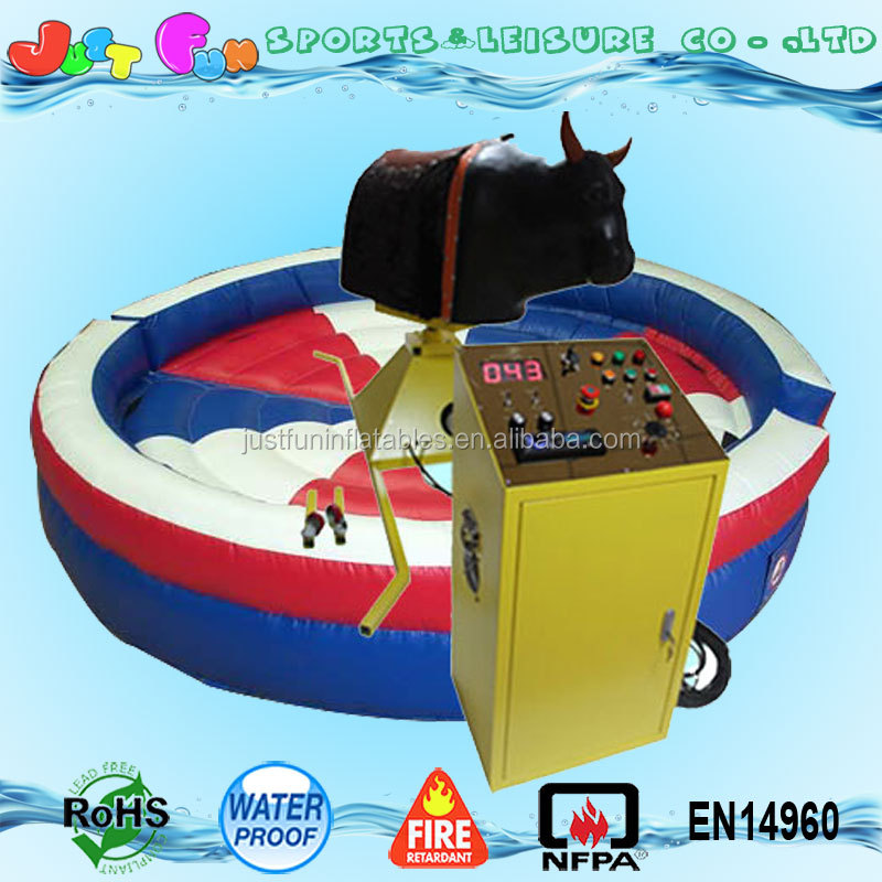 Hot sale mechanical rodeo bull prices for inflatable adults sports games with led eyes