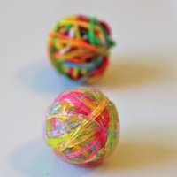 Colored Small Rubber Band Ball , DIY Small Rubber Band Ball For Sale
