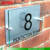 Acrylic wall mount address sign; clear customized acrylic address plaque
