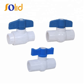 Plastic UPVC Socket Ball Valve For Water