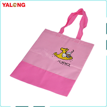 Reusable expandable polyester foldable flat shopping promotional bags