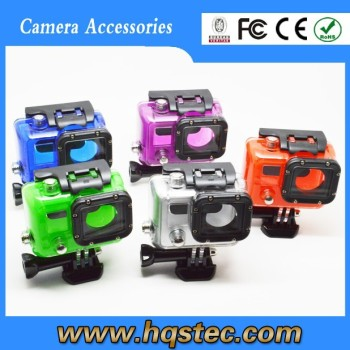GP29 Gopros Accessories Skeleton Protective Housing with Lens for GoPros 3