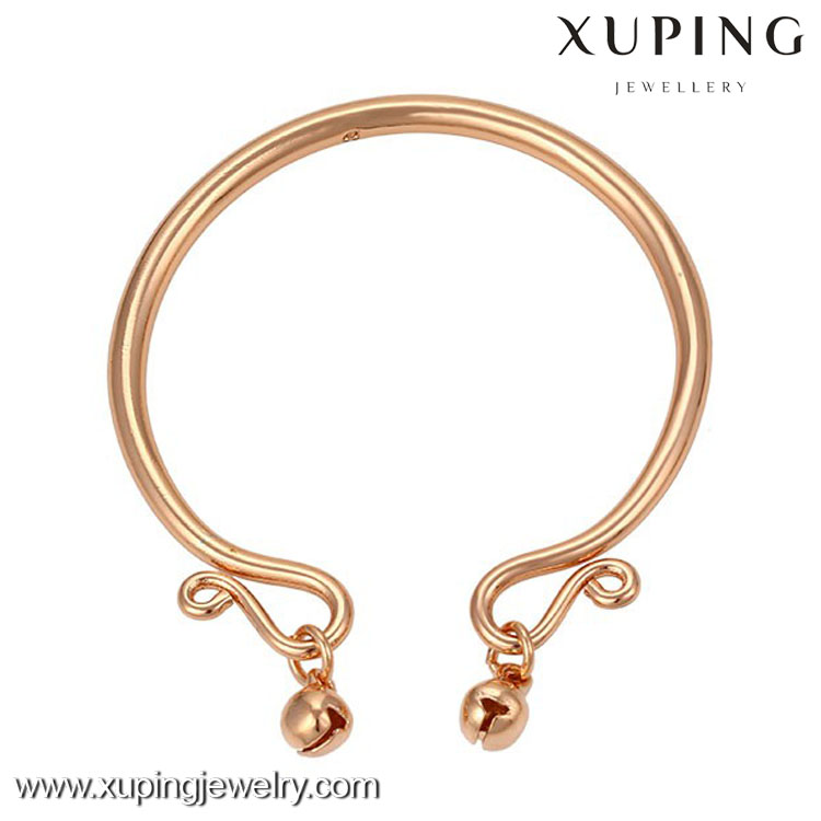 51388 fashion rose gold plated custom copper magnetic girls fashion metal bangle