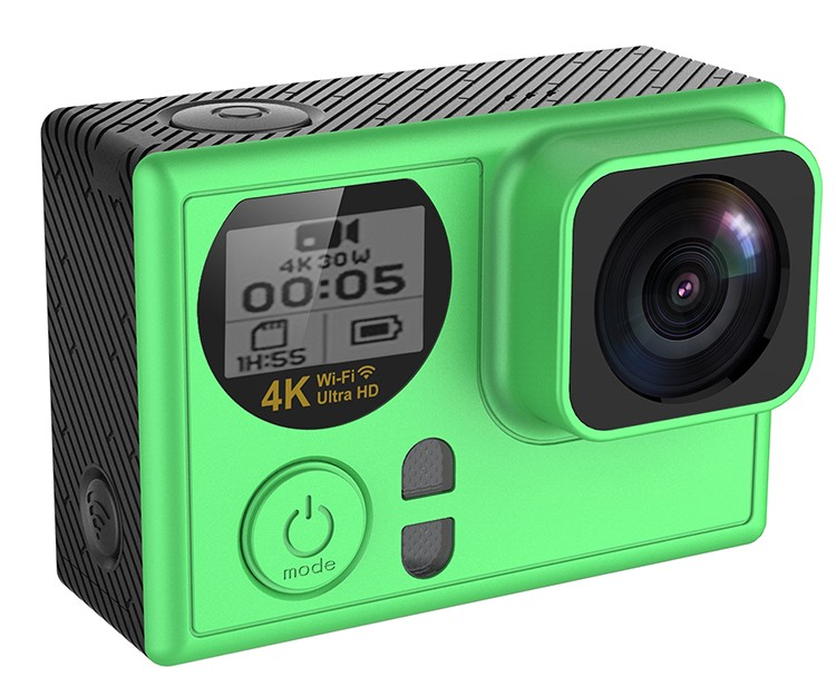 Newest 4k resolution sport DV AT70 with 2.0inch and 0.66 OLED double screen action camera