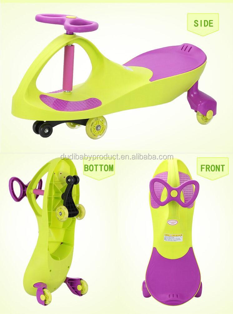 Atacado new PP crianças passeio em carro de plasma/crianças carro da torção/carro do balanço do bebê