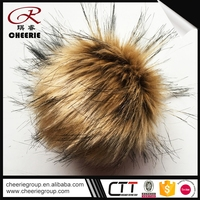 Cheapest Price OEM artificial wholesale raccon fur ball arts and crafts poms pom curtains