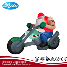 Newest selling superior quality christmas items inflatable cool strong muscle man driving toy motor