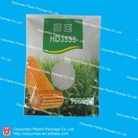 Resuable agriculture plastic bag for corn seeds with a clear window/ Standed side gusset plant seeds bag