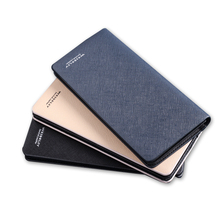 promotion high quality shape book pu leather long cheque book holder wallet