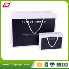 Customized logo luxury retail paper shopping bag for clothing