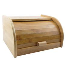 Natural bamboo storage containers for bread