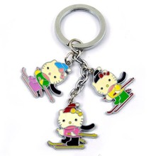 promotional lover festival custom metal keychain
