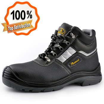 Industrial safety shoes and boots,leather safety boots