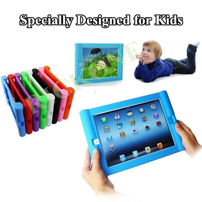 Shockproof Protective Case For Apple iPad 2 3 4 Silicone Drop Proof Case Cover For Home Children Kids