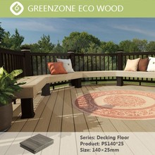 Natural style european garden balcony coutyard park in spain wpc decking floor