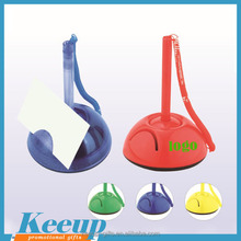 Unique Promo customized Plastic Desk Stand Counter Ball Pen Wholesale with Inserted Memo Pad Holder
