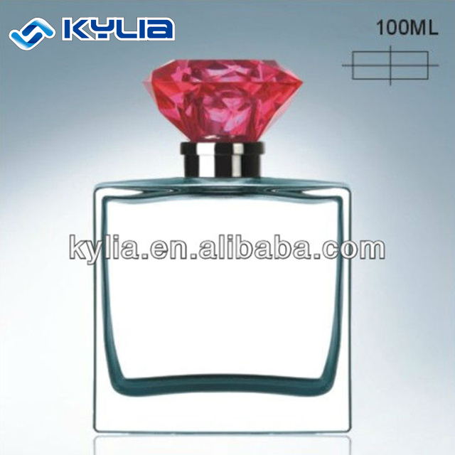 China Manufacturer 50ml Empty Square Crystal Glass Perfume Bottle