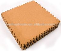 Eco-friendly And Natural EVA Cork Floor Mat