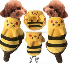Halloween Dog Costume Cheap Pet Clothes Pokemon Pikachu Hoodie For Dogs