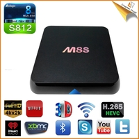 2016 Newest quad core android tv box s812 dvb-s2t M8S MXQ S812 TV BOX 2GB ram 8GB rom Quad Core KODI 4k Smart TV BOX