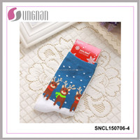 2015new style snowman deerlet snow stockings for christmas