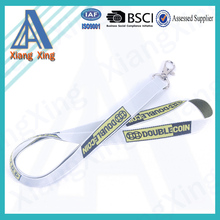 Custom Logo Promotional Hollow Computer Woven Lanyard with Any Hook
