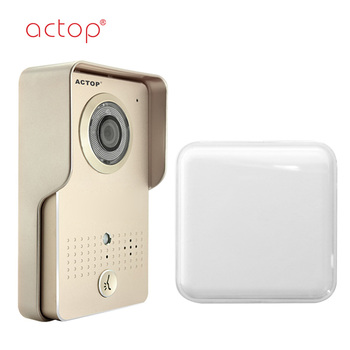 ACTOP wifi-602 gold wireless video door phone for apartment intercom
