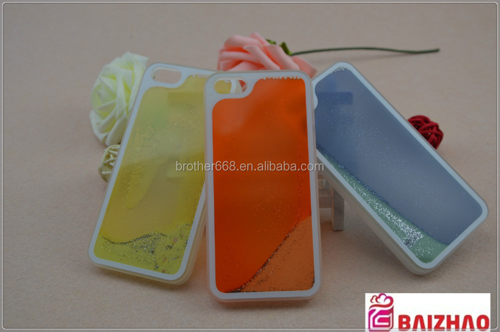 new Promotion liquid glowing cell phone case , Original design,bulk cheap hard cover case