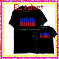 Newly el tshirt / LED tshirt sound activated