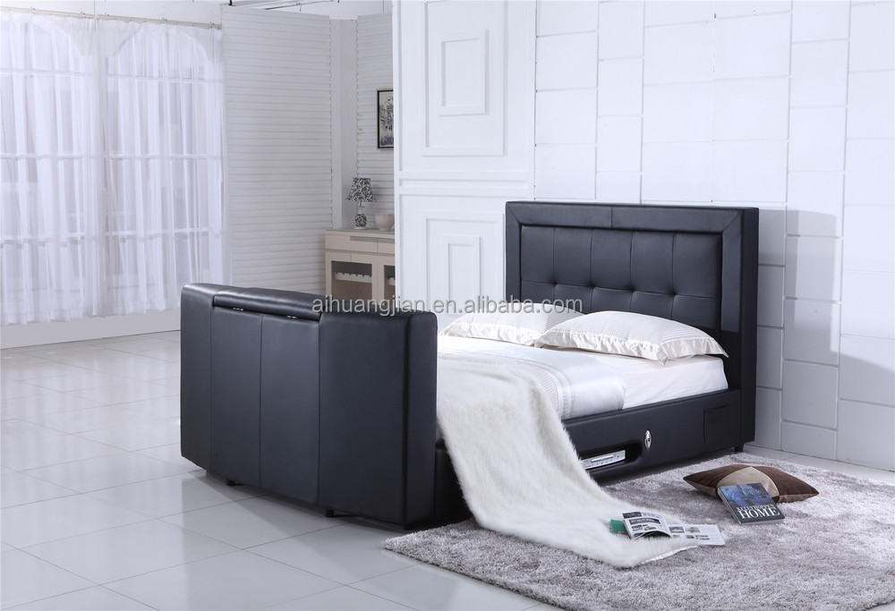 bed with tv in footboard tv bed under bed remote tv lift. Black Bedroom Furniture Sets. Home Design Ideas