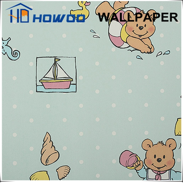 Colorful patterns lovely animal wallpaper for boy/kids bedroom