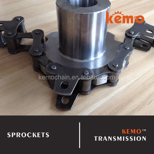 Double pitch sprocket with chain