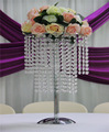 round LED wedding chandelier silver centerpiece wholesale