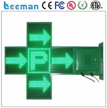 red green blue white 3d p7.62 led pharmacy cross Full color led pharmacy cross p8mm smd outdoor led display