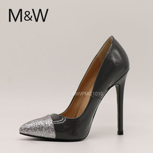 lady pretty 5 inch high heels customized brand name shoes