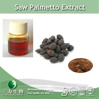 High quality saw palmetto extract / 25%~ 95% fatty acid powder / oil