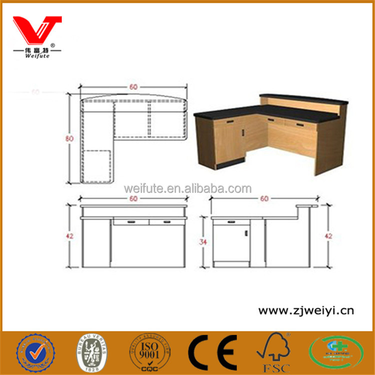 Trade Assurance cashier register table/wrap checkout counter design