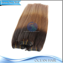Hot Lady Indian 3 Tone Colored Clip In Human Hair Extensions