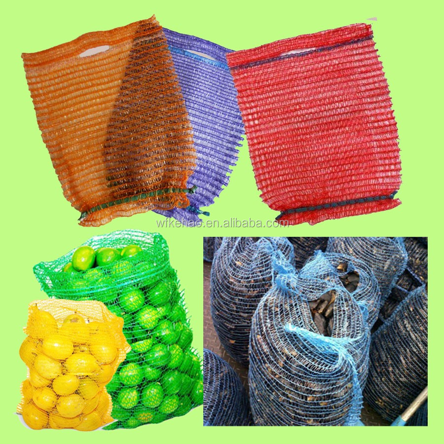 Orange onion potato vegetable fruit packing pe raschel mesh bag wholesale