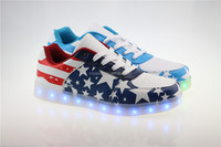 New Design led light high heel shoes