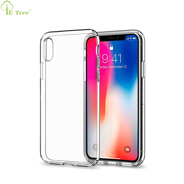 For iphone X 10 Transparent Back Case, Crystal Clear Soft TPU Phone Case For iphone X