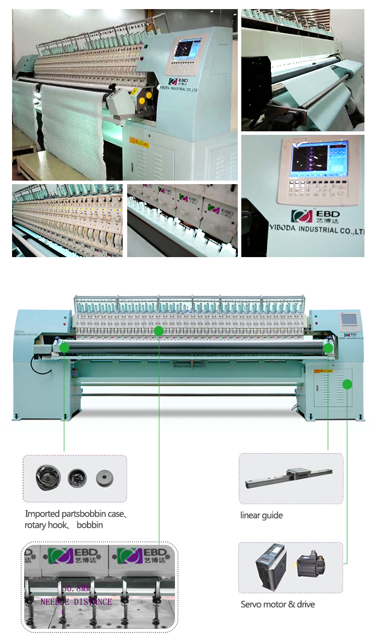 YBD168 intelligent computerized Quilting embroidery machine