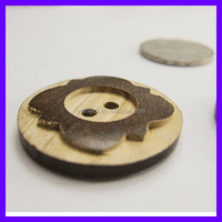 2 holes T shirt wooden button making machines