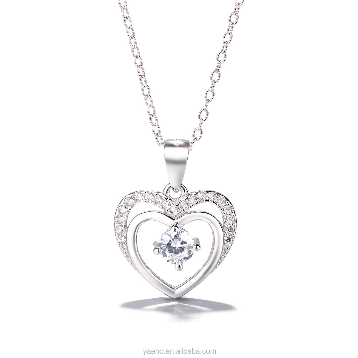 Valentine's Day Factory Wholesale 925 Solid Silver Heart Shape Jewelry Set