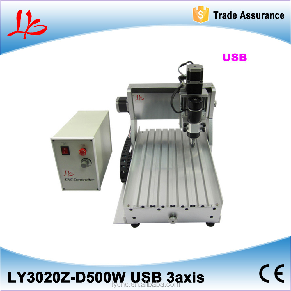 LY 3020Z-D500W USB 3axis CNC Engraving machine mini cnc router milling and drilling machine