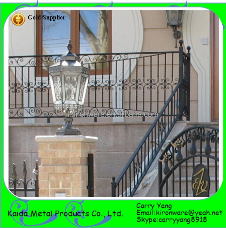 Factory Price Lowes Wrought Iron Outdoor Banisters and Railings