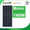 Bluesun A grade home solar power system application mono 12v 140w solar panel