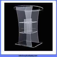 Low price Nice looking portable acrylic lectern