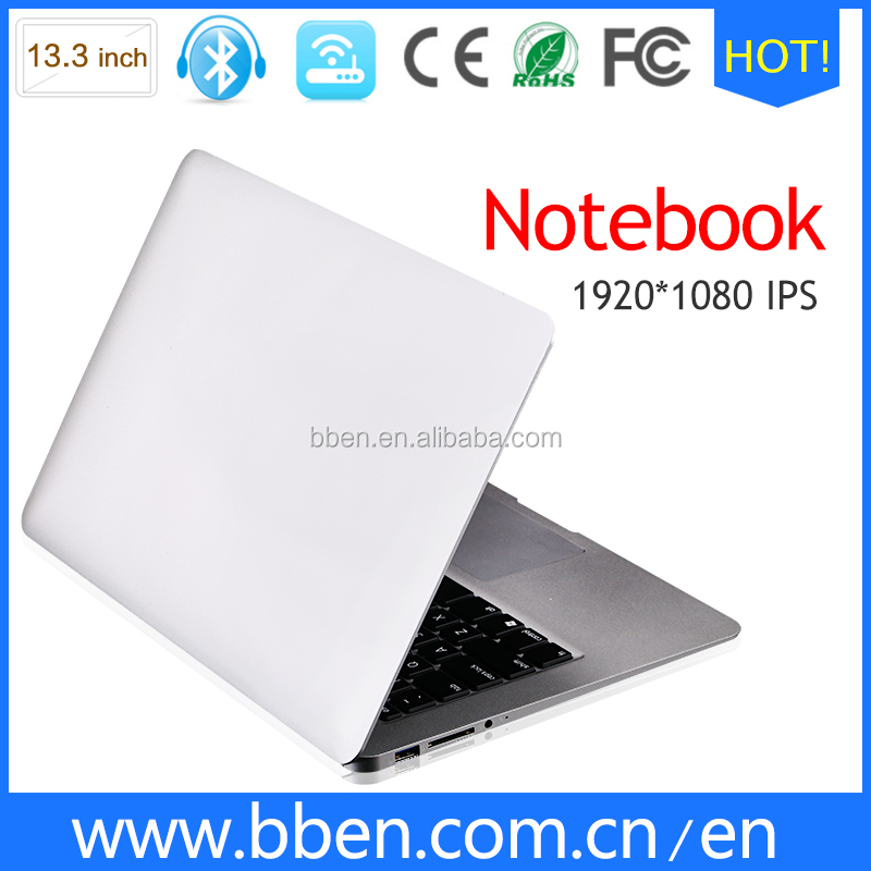 New and cheap OEM laptop 13.3inch with 8g ram 256 ssd backlight keyboard from factory in china