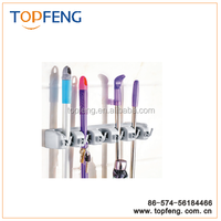 Mop and Broom Holder/Mop and Broom Holder Wall/ 5 Positions with 6 Hooks